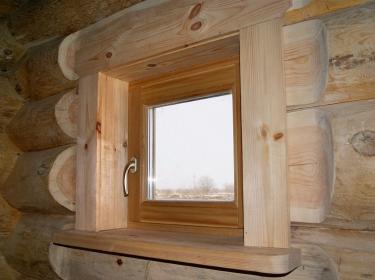 Деревянные окна для бани и дома