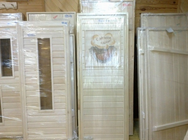 Двери банные (осина)