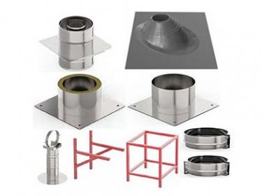 Элементы для монтажа дымохода