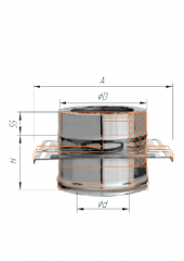 монтажная площадка (430/0.8мм)/нерж ф200х280 двустенные дымоходы (сэндвич) d200 FERRUM