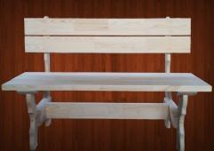 скамья со спинкой 1.6 м/п садовая мебель из дерева
