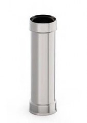 Труба d 210, 1 м, 0.5 мм, нержавейка