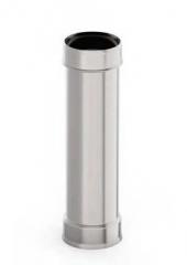 Труба d 130, 1 м, 1.0 мм, нержавейка