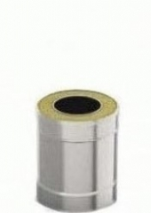Сэндвич-труба 0.5м 130/200, 1.0 мм/0.5 мм, нерж/оц
