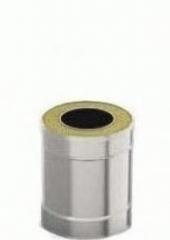 Сэндвич-труба 0.5м 140/200, 1.0 мм/0.5 мм, нерж/оц