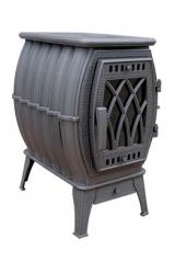 Чугунная печь-камин Бахта серая