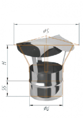 Зонт (430/0.5мм) ф120