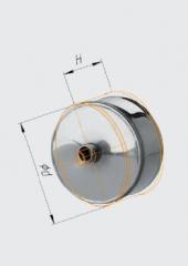 Заглушка с конденсатоотводом внешняя нерж (430/0.5) ф150
