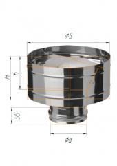 Зонт с дефлектором нерж (430/0.5мм) ф120