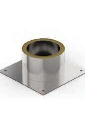 Потолочно-проходной узел теплый d 150 круглый, н+оц