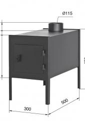 Шибер-задвижка ф180  1.0мм