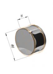 Заглушка внешняя нерж (430/0.5) ф115