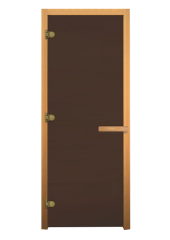 ДС Бронза Матовая 1700х700мм (8мм, 3 петли) Осина