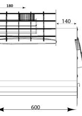 Отвод 135* ф260.  0.5мм. нерж