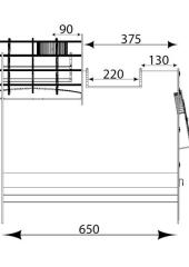 Отвод 135* ф280.  0.5мм. нерж