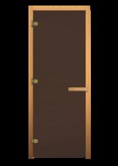 ДС Бронза матовая 1900х800мм (8мм, 3 петли) Осина