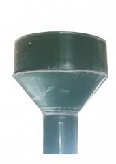 Воронка водосточная d100, Ral 6005