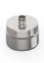 Заглушка с конденсатоотводом d 120, 0.5 мм. нержавейка