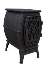 Чугунная печь-камин Бахта черная