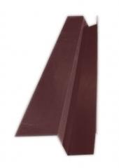 Желоб водосточный квадратный с полкой 2м, Ral 8017