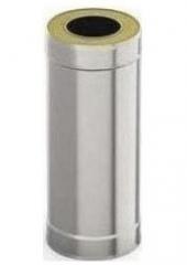 Сэндвич-труба 1м 100/160, 0.5 мм/0.5 мм, нерж/оц