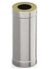 Сэндвич-труба 1м 160/220, 0.5 мм/0.5 мм, нерж/оц