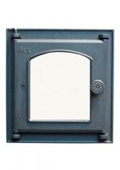 Дверца LK 361 топочная со стеклом (250х280)