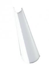 Желоб водосточный полукруглый 2м, Ral 9003