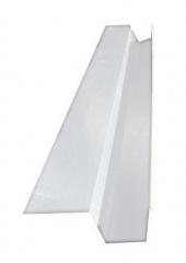 Желоб водосточный квадратный с полкой 2м, Ral 9003