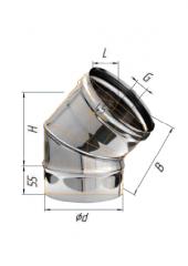 Отвод 135* нерж (430/0.5 мм) ф200