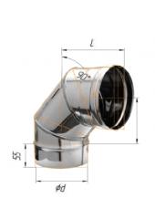 Отвод 90* нерж (430/0.8 мм) ф120