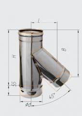 Тройник 135* нерж (430/0.8 мм) ф115