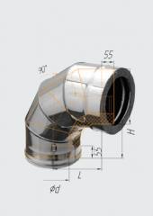 Сэндвич-колено 90° нерж (430/0.5мм)/нерж ф120х200