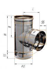 Тройник 90* нерж (430/0.8 мм) ф115