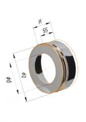 Заглушка с отверстием нерж (430/0.5мм) ф150х210