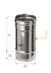 Шибер поворотный нерж (430/0.5мм) ф115