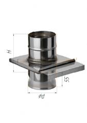 Шибер задвижка нерж(430/0.8мм) ф120