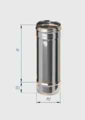 Труба нерж 0.5м (430/0.8 мм) ф120
