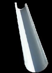 Желоб водосточный полукруглый 2м, оцинкованный